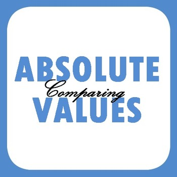 Comparing Absolute Values - Practice or Homework
