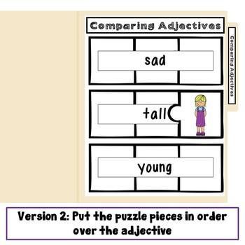 Comparing Adjectives File Folder Game 1