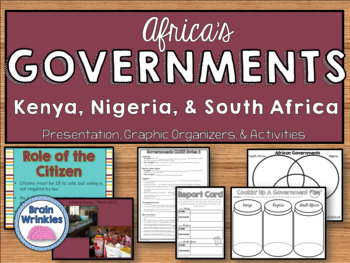 Africa's Governments: Kenya, Nigeria, and South Africa (SS7CG1)
