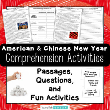 Comparing American and Chinese New Year - Reading Passages and Snowball Fight