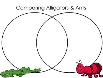 comparing animals 22 venn diagrams both in color and black white