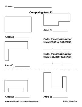Comparing Area Centimeters