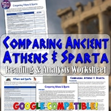 Comparing Athens and Sparta Chart and Reading