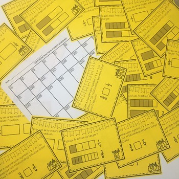Comparing Benchmark Fractions Task Cards (with and without models)