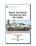 Ratios Comparing Cars by Miles Per Gallon