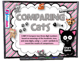 Comparing Cats Smart Board Game (CCSS.2.NBT.4)