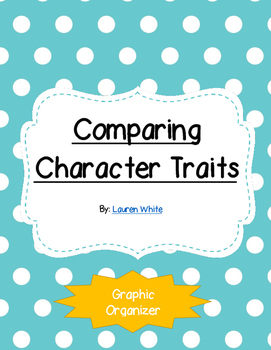 Comparing Characters Graphic Organizer (External v. Internal Character Traits)