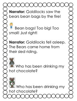 Comparing Characters and Adventures: The Three Bears