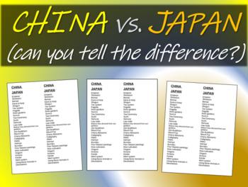 Comparing China to Japan