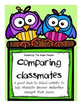Comparing Classmates : Back to School Activity