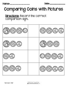 Comparing Coins with Pictures