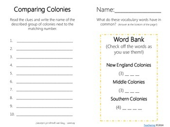 Comparing Colonies Task Cards {with PHOTOS for differentiation}