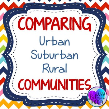 Communities - Urban, Suburban, and Rural