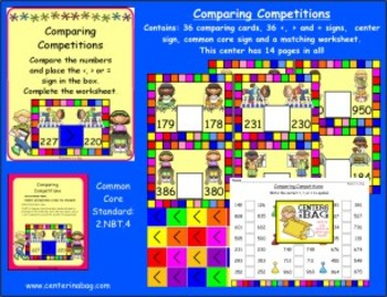 Comparing Competitions (L.2.5) (Greater, Less Than, Equal To)