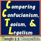 Comparing Confucianism, Taoism, & Legalism! Common Core Primary Source Analysis!