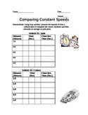 Comparing Constant Speed Lab (Motion )