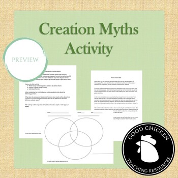 Compare And Contrast Mythology Worksheets Teaching