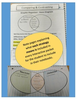 Comparing & Contrasting Interactive Notebook with Any Story