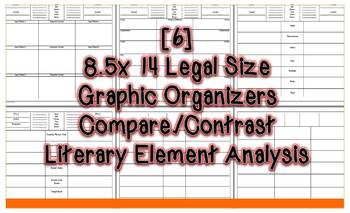 Comparing & Contrasting Literature Large 8.5x14 Graphic Organizers