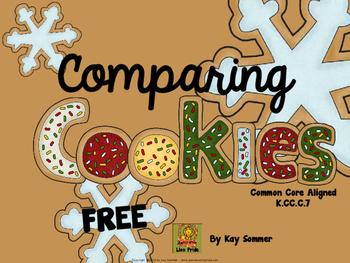 Comparing Numbers 1-10 {cookies} {FREE}