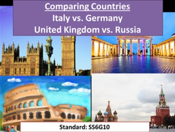 Comparing Countries: Italy, Germany, U.K., Russia GPS G10