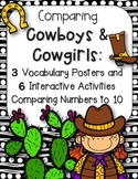 Comparing Numbers to 10 Activities {Cowboy Theme}
