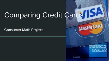 Comparing Credit Cards - Consumer Math Project
