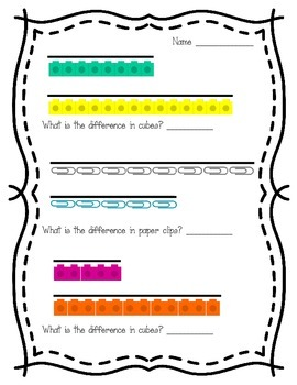 Comparing Cubes and Paper Clips (2.MD.4)