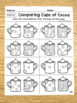 Comparing Cups of Cocoa Math Worksheets - Comparing Numbers K.CC.6