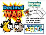 Comparing DECIMALS - War Math Center