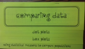 Comparing Data- Dot, Box, MAD Flip Book Foldable