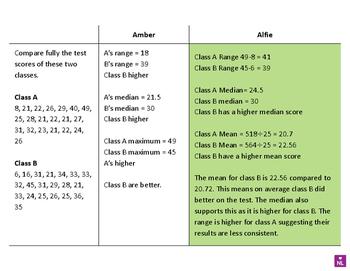 FREE Comparing Data Sets (Tick or Trash)