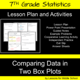 Comparing Data in Two Box Plots - 7th Grade Statistics