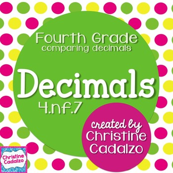 Comparing Decimals Math Unit 4.NF.7