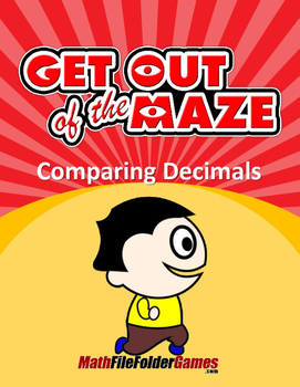 Decimal Maze - Comparing Decimals Worksheets