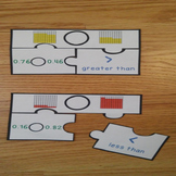 Compare Decimal Game Puzzles Greater Than Less Than Compare Decimal Model 4.NF.7