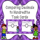 Comparing Decimals to Hundredths Task Cards Compare Decimal 4th Grade 4.NF.7
