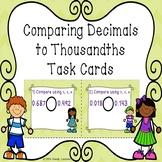 Comparing Decimals to Thousandths Compare Decimal 5th Grade Task Cards 5.NBT.3