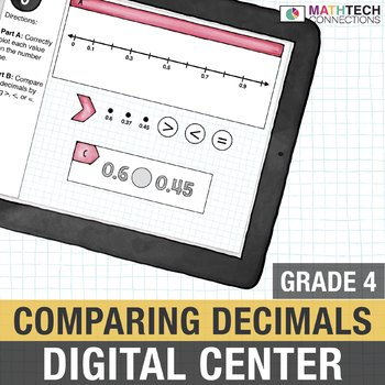 Comparing Decimals - 4th Grade Digital Math Center use with Google Classroom