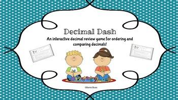 Comparing Decimals Activity