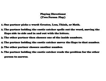 Comparing Decimals Game for 3rd 4th 5th Grade