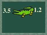 Comparing Decimals Alligator Bites