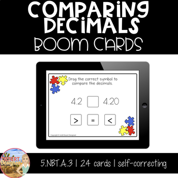 Comparing Decimals - Boom Cards