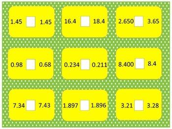 Comparing Decimals - Bubble Pop Game