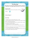 Math Center - Comparing Decimals