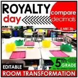 5th Grade Comparing Decimals Classroom Transformation | Kings and Queens