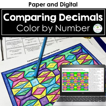 Comparing Decimals Color by Number