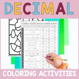 Reading, Writing and Comparing Decimals Coloring Activitie