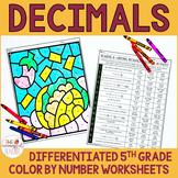 Comparing Decimals Coloring Activity