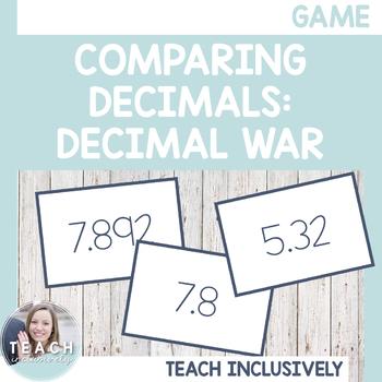 Comparing Decimals: Decimal War